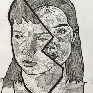 Sibling Portrait in Two Pieces
